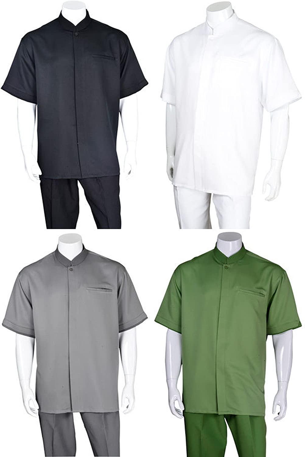 FORTINO LANDI Banded Collar Walking Suits in 4 Colors M2959