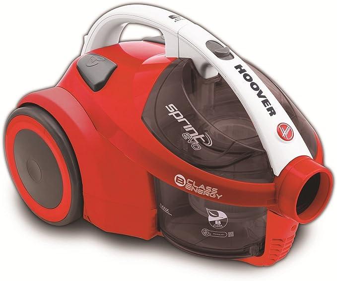 Hoover SE71_SE50 Sprint EVO SE 50-Aspirador sin Bolsa. Clase Eficiencia Energética A. Tecnología Ciclónica, 700 W, 1.5 litros, 85 Decibelios, ROJO: Amazon.es: Hogar