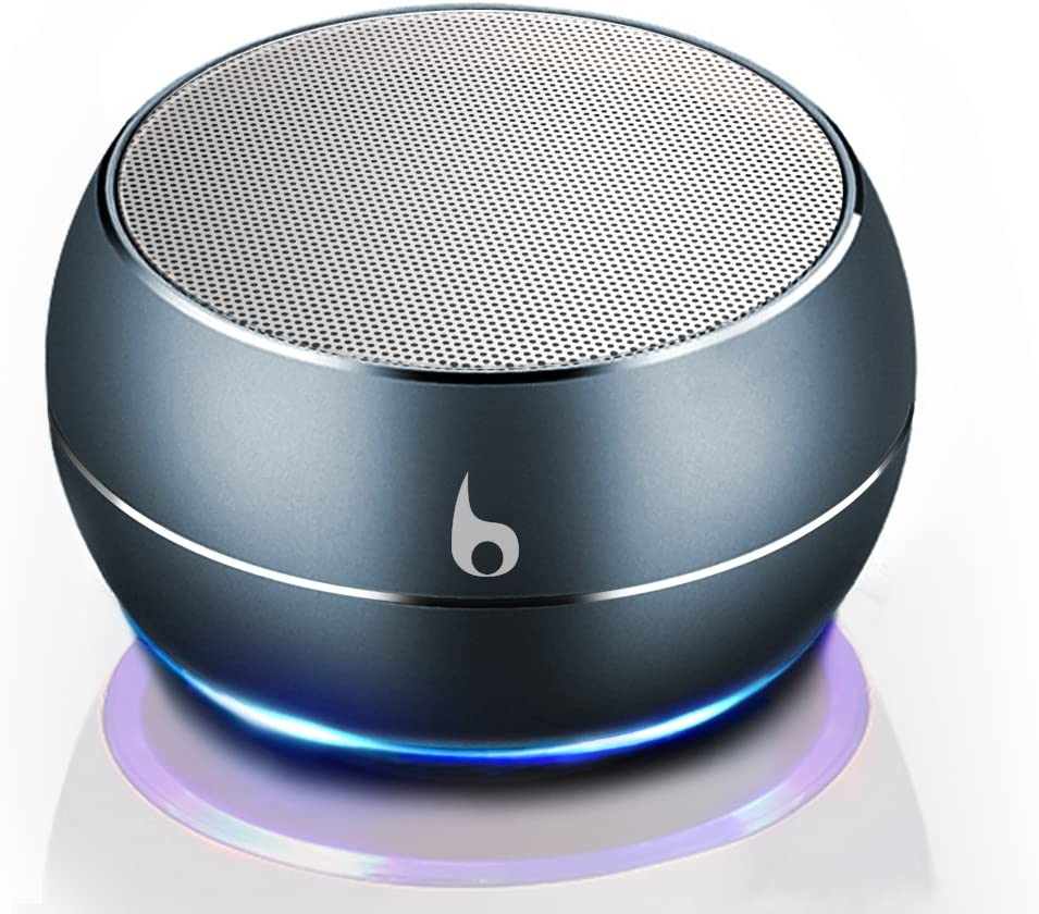 OKE Mini Altavoz Bluetooth, Caja de música inalámbrica Bluetooth portátil, Estuche metálico(Gris): Amazon.es: Electrónica
