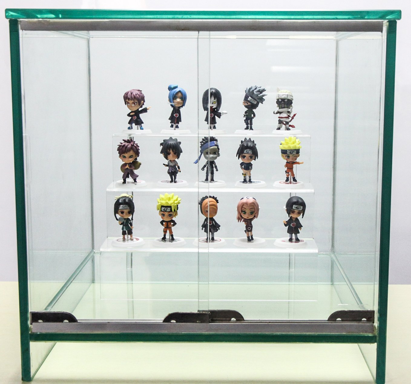 Acrylic Riser Stand Shelf for Amiibo Funko Pop Figure Display Clear 3-Tier 9x6 inch 3 Steps Acrylic Display for Decoration and Organizer-Small