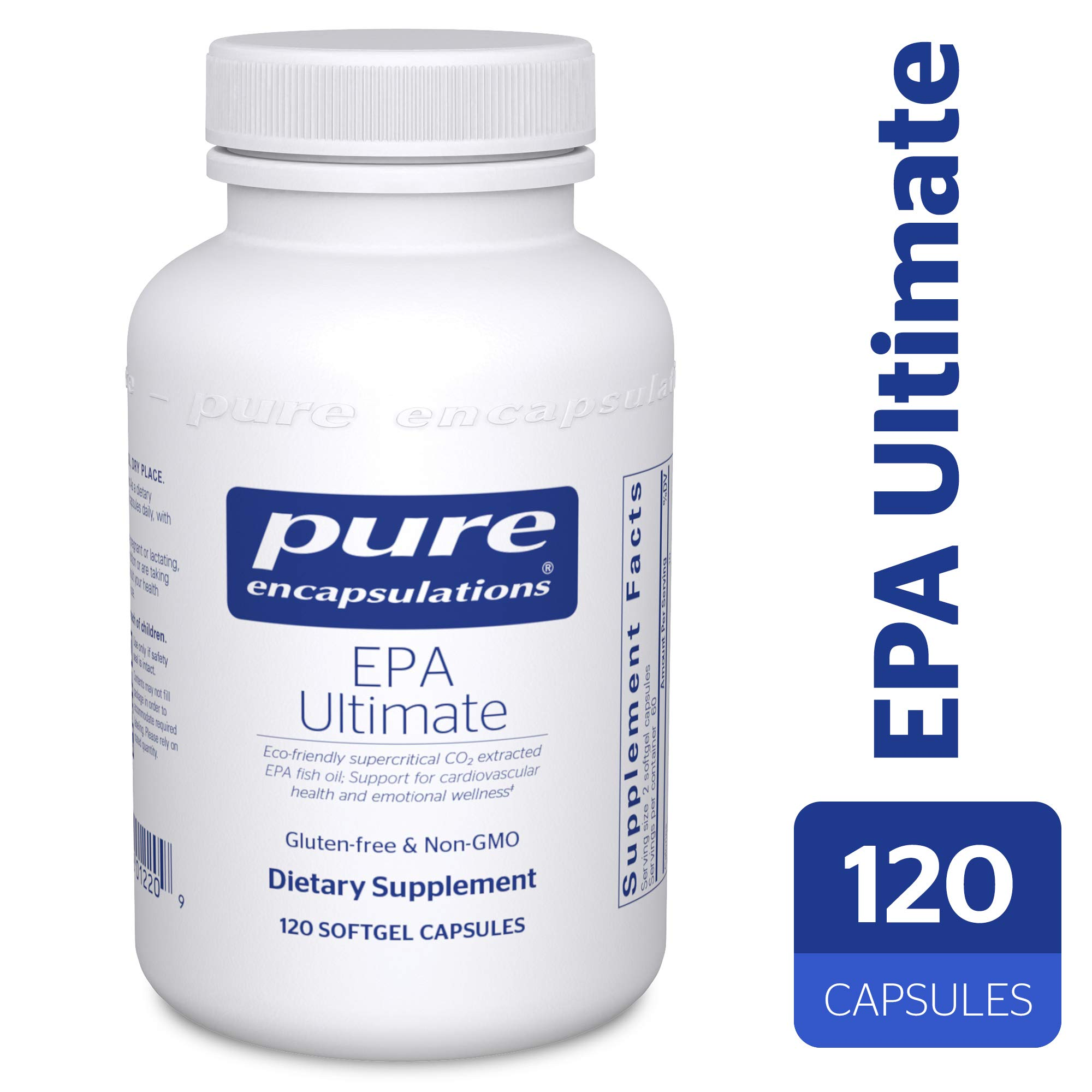 Pure Encapsulations - EPA Ultimate - Eco-Friendly Supercritical CO2 Extracted EPA Fish Oil Concentrate - 120 Softgel Capsules