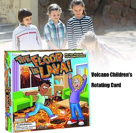 El Piso es Lava Juego de Cartas volcánicas Juego de Cartas Juego de Cartas Giratorio para niños con Juego de Cartas Familiar para niños volcanes innovadores: Amazon.es: Hogar