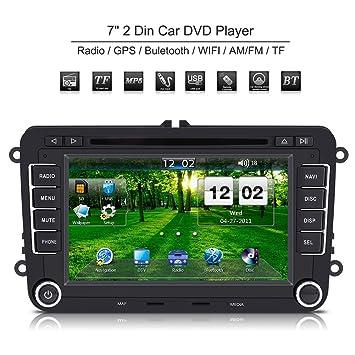 Qiilu Universal 7 pulgadas 2 Din Radio mp5 coche Reproductor de DVD con Pantalla tactil HD