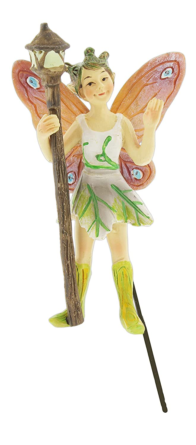 Georgetown Mini Fairy Garden Figurine Holding Glow in The Dark Lantern, 4