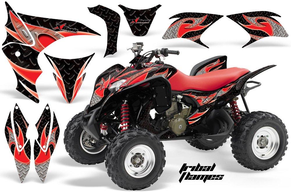 AMR Racing GraphicsキットATVホンダ700 XX 2009 – 2015 ATV Tribal Flamesレッドブラック   B079972Y4F