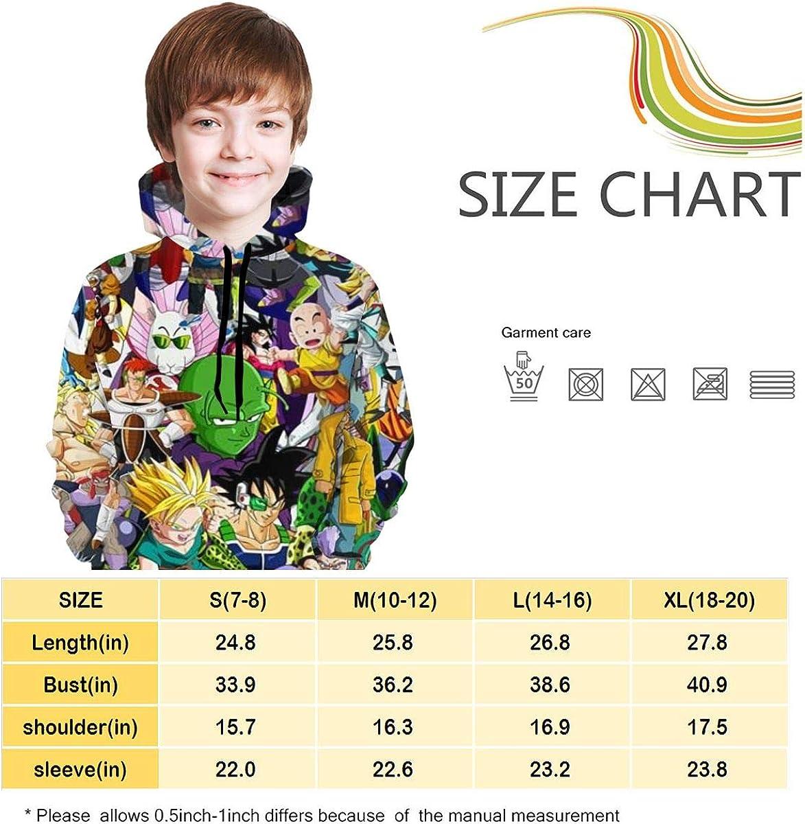 Main-Theme Teen Boys Girls Dragon Ball Z Hoodies Sweatshirts Pullover,