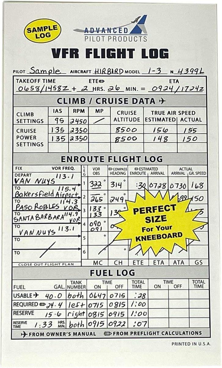 Advanced Pilot Products VFR Flight Log Pad