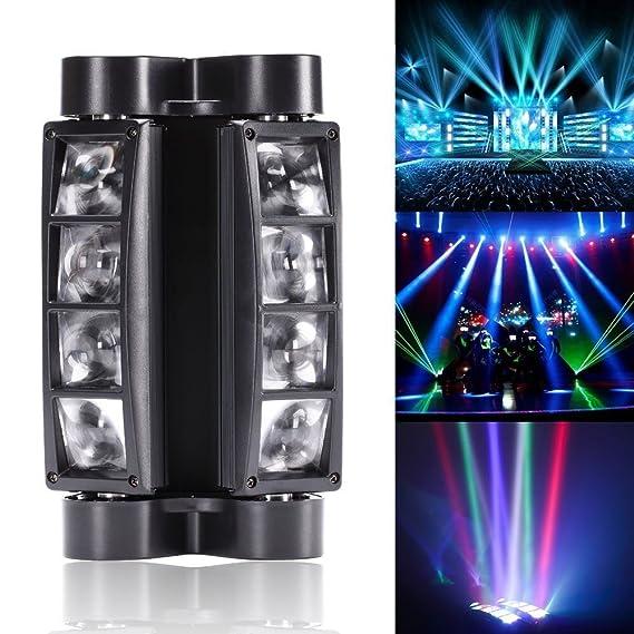 U`King Spider Moving Head Licht DMX512 lichttechnik mit 8x3W RGBW 4 Farbe LED Lampe für DJ Disco Hochzeit Weihnachten Hallowe
