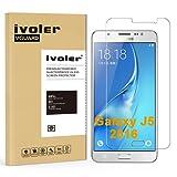 foto                       Samsung Galaxy J5 (2016) Pellicola Protettiva, iVoler® Pellicola Protettiva in Vetro Temperato per Samsung Galaxy J5 (2016) - Vetro con Durezza 9H, Spessore di 0,2 mm,Bordi Arrotondati da 2,5D-Shockproof, Trasparenza ad alta definizione, Facile da installare- Garanzia a vita