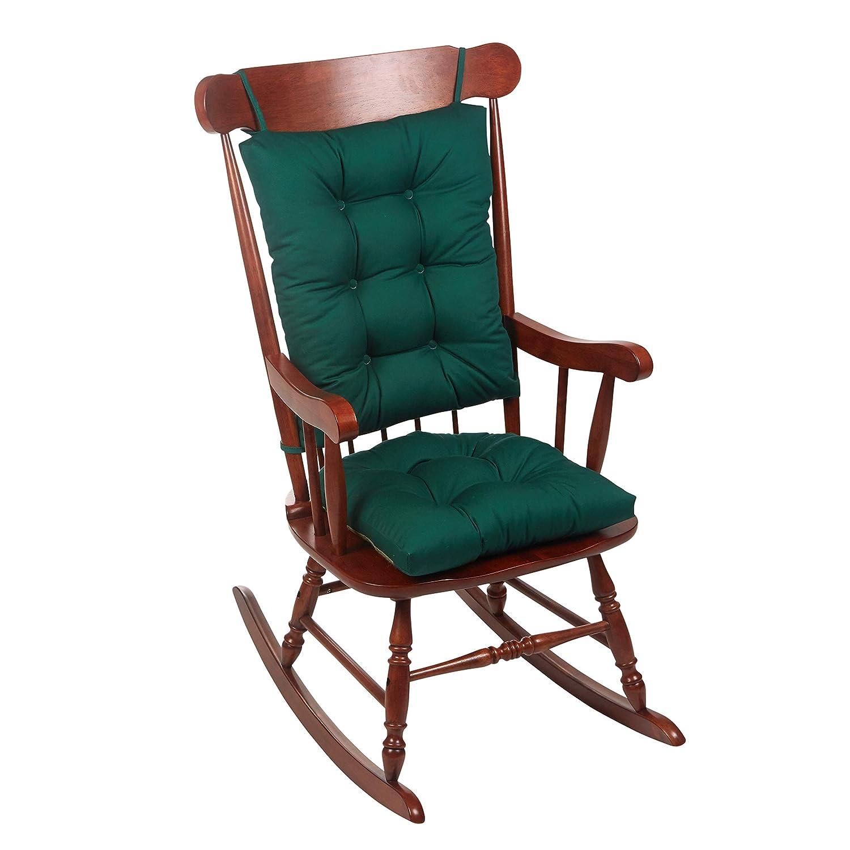 Phenomenal The Gripper Twill Jumbo Xl Non Slip Rocking Chair Cushion Set Wedge Blue Customarchery Wood Chair Design Ideas Customarcherynet
