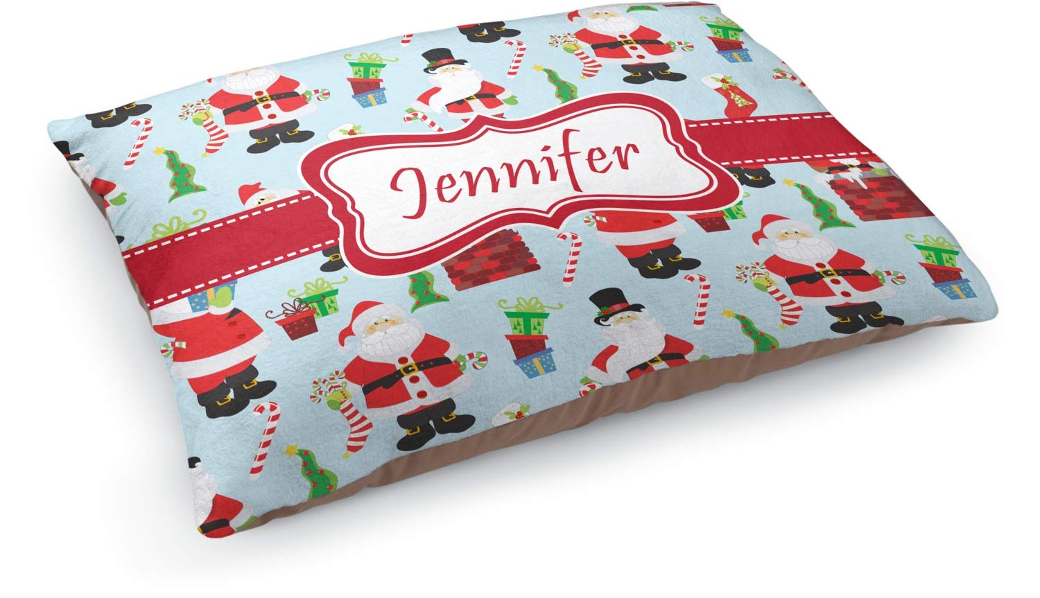 YouCustomizeIt Santas w/Presents Dog Bed (Personalized)
