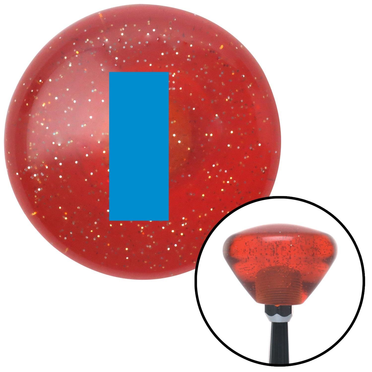 American Shifter 178423 Orange Retro Metal Flake Shift Knob with M16 x 1.5 Insert Blue Officer 01-2n Lt. and 1d Lt.
