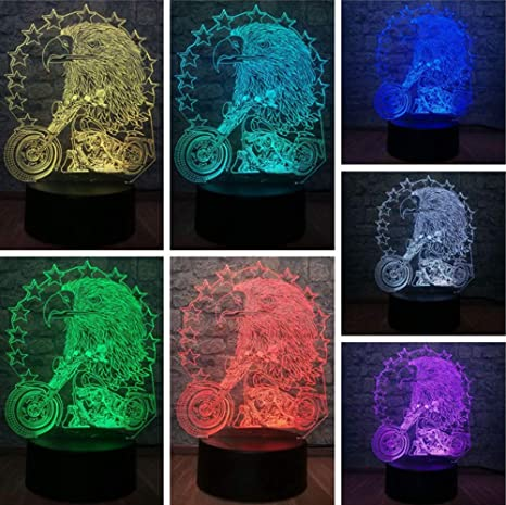 3D Kawaii Animal USB Atmósfera de Luz Nocturna Mesa de Escritorio ...