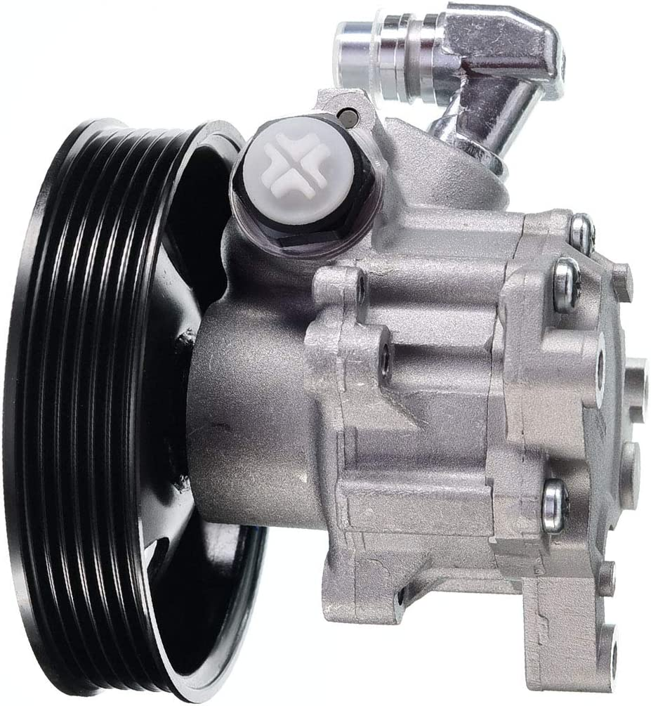 A-Premium Power Steering Pump with Pulley Replacement for Mercedes-Benz W203 C209 C240 C320 CLK320 CLK500 CLK55 AMG SLK55 AMG