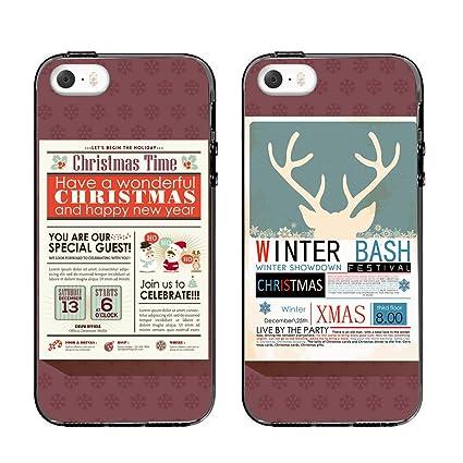 Amazon.com: iPhone 6 Plus De Navidad par casos, ttott 2 x ...