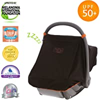 SnoozeShade Baby Car Seat Canopy | Sunshade and Baby Blackout Blind for Group 0/Plus Infant Car Seats and Carriers | Blocks 99% UV