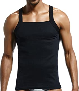 d9a7317a86b9bf Amazon.com  papi Men s 3-Pack Cotton Square Neck Tank Top  Clothing