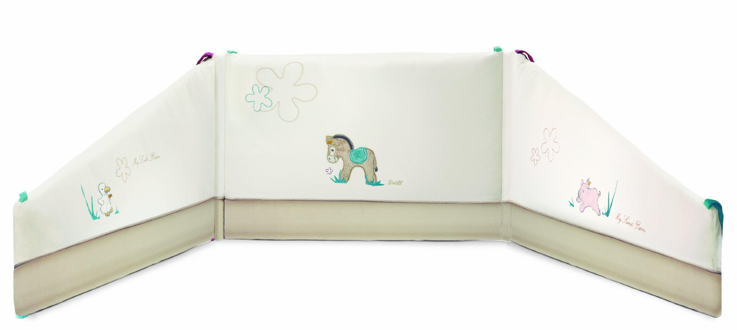 Steiff Issy Donkey Bed Bumper, cream Baby Plush