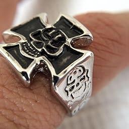 Amazon 指輪 メンズ 髑髏 スカル リング ゴシック デザイン ファッション アクセサリー ジュエリー Evbea エバベア 28 リング 通販