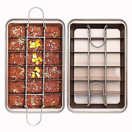 Timeracing Molde Antiadherente para Brownie con Divisor para Pan ...