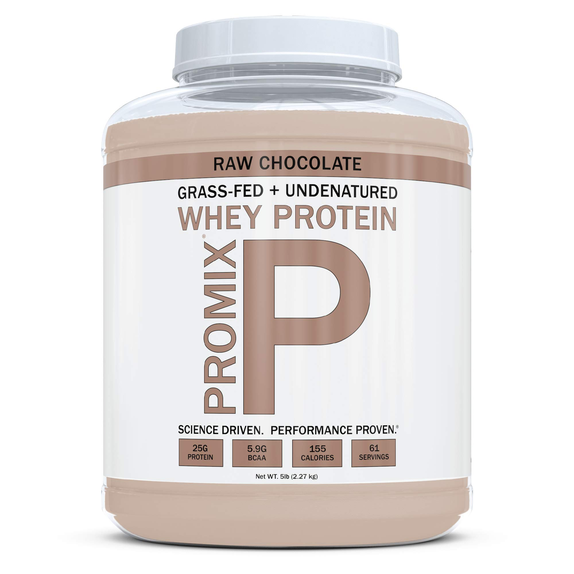 ProMix Nutrition Container of Chocolate Grass-Fed Whey Protein, 5 Pound