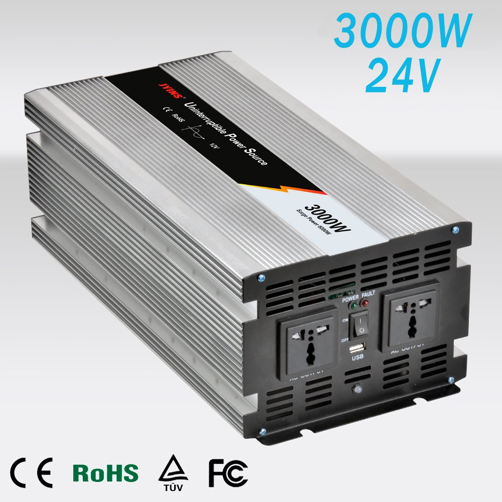 Inverter 3000 W/6000 W LF Wellenlänge reine des innerhalb DC 24 V to AC 230 V Pure Power Inverter with Display