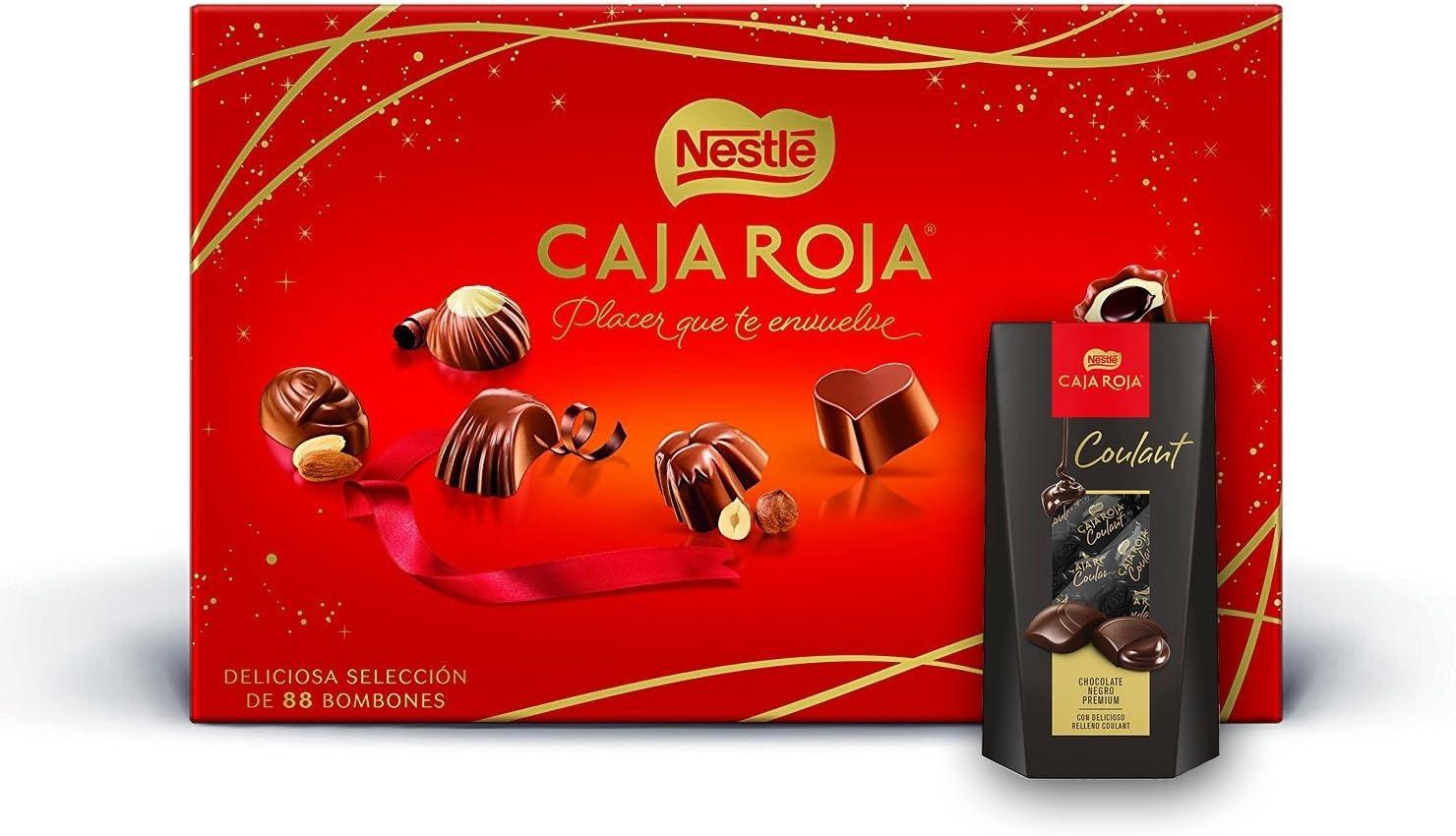 Nestlé caja roja 800gr + Nestlé Coulant Chocolate Negro Premium: Amazon.es: Alimentación y bebidas