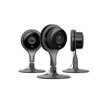 Nest Security Camera, Keep an Eye On What Matters to You, from Anywhere,  for Indoor Use (3-Pack)…