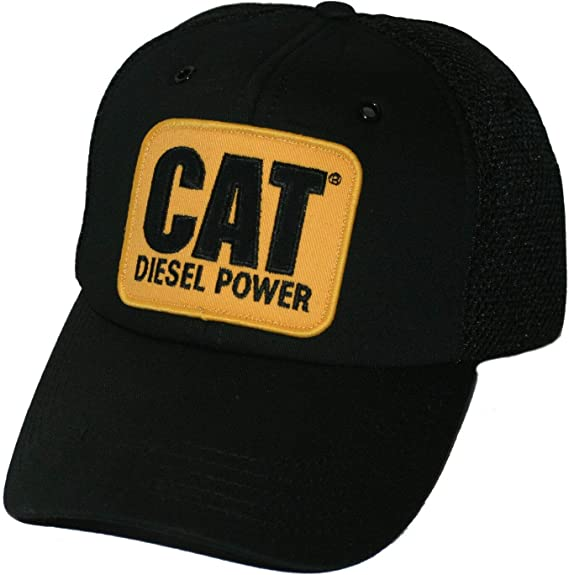 Caterpillar CAT Equipment Worn Looking Vintage Snapback Bro White Mesh Cap//Hat