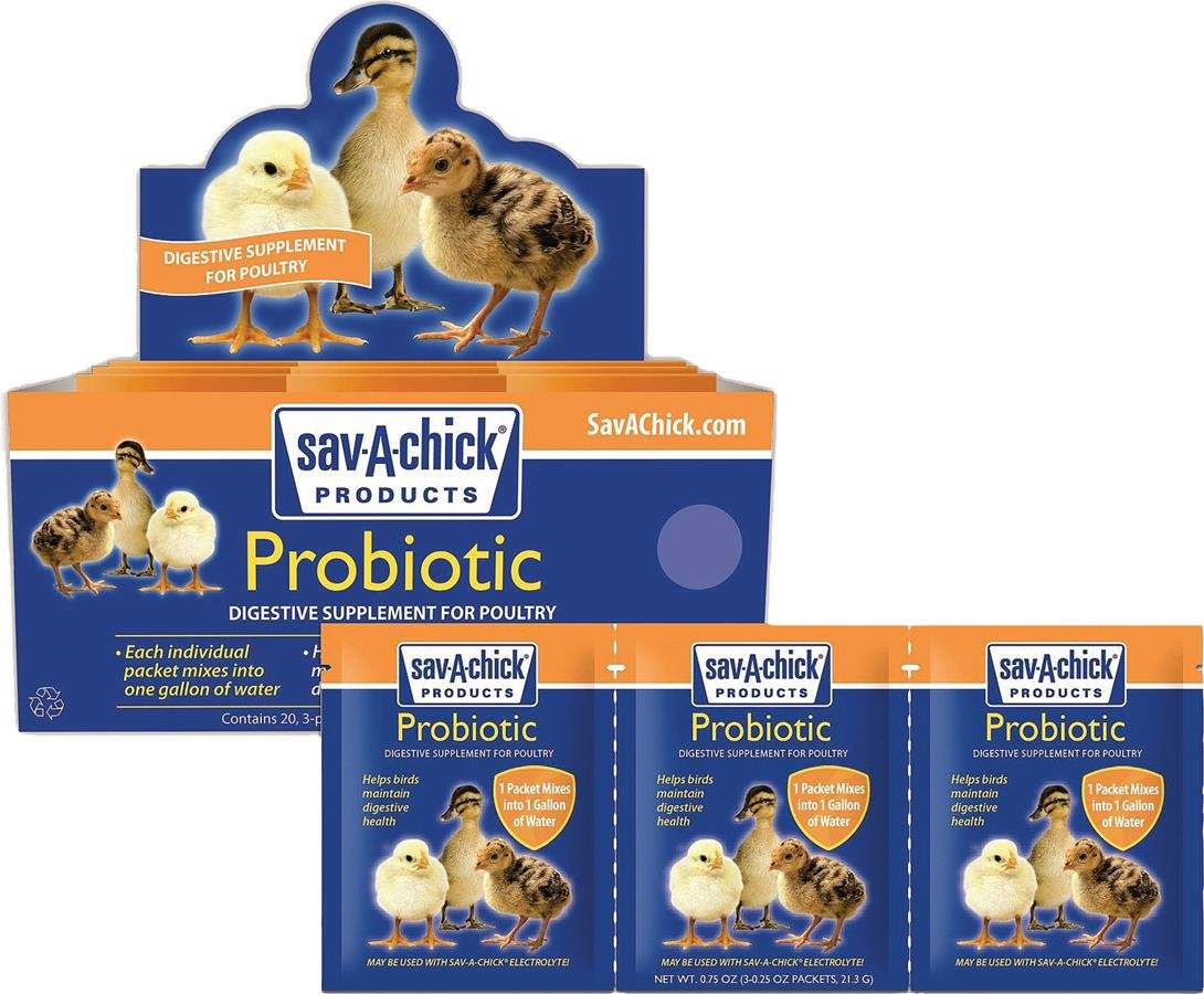 3 pack makes 3 gallons sav-a-chick electrolyte and vitamins