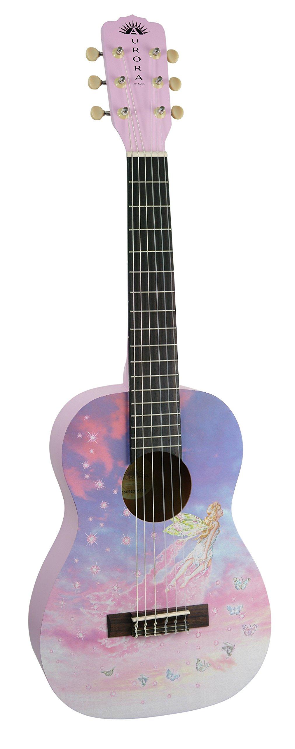 Luna AR2 NYL FAERIE Aurora 1/2 Acoustic Guitar, Nylon Faerie by Luna Guitars