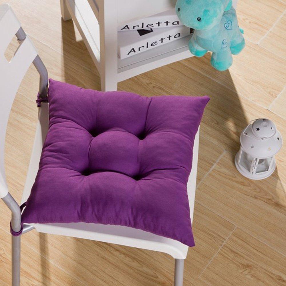 Fendii Soft Chair Cushion Seat Pad Seat Cushion Kitchen Garden Dining Chair 40x40x8cm Dark Blue