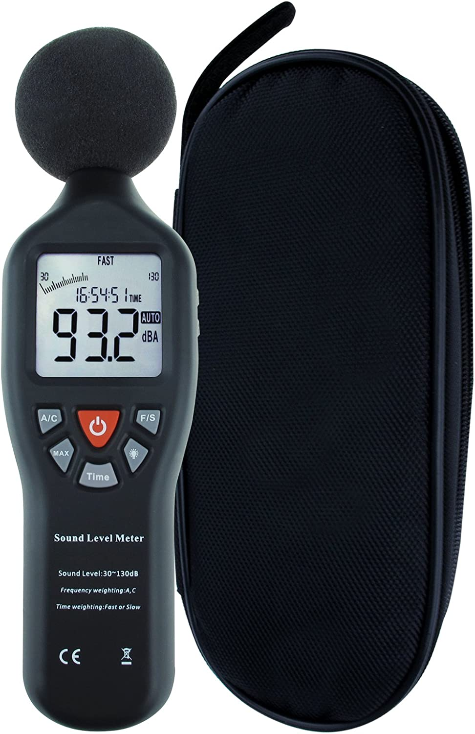 Gain Express Professional Decibel Meter Sound Level Meter with Backlight Display High Accuracy SPL Meter dB Meter Measuring 30dB-130dB (Without Data Record Function)
