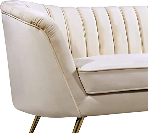 Meridian Furniture Margo Collection Modern | Contemporary Velvet Upholstered Chair - a good cheap living room chair