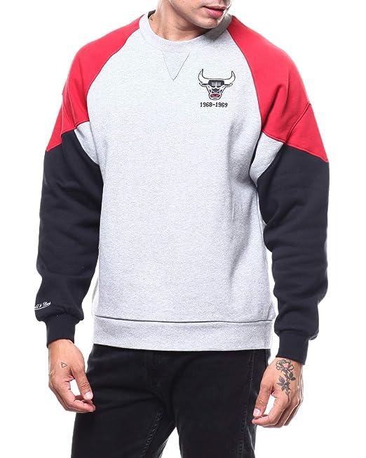 Mitchell & Ness Trading Block Crew Chicago Bulls, Sudadera sin Capucha para Hombre: Amazon.es: Ropa y accesorios