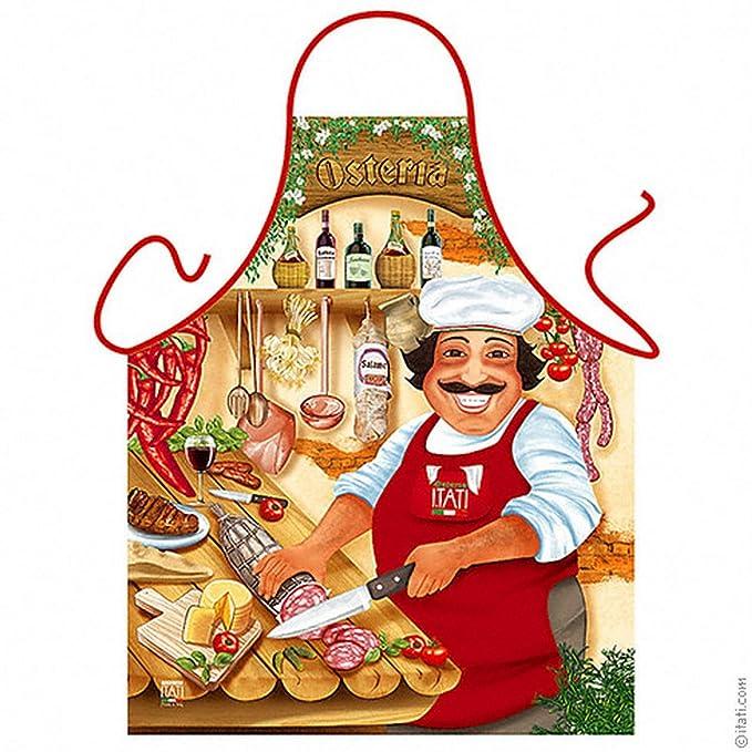 Delantal – – Italiano Osteria – divertido diseño Delantal como regalo para barbacoa Fans con Humor