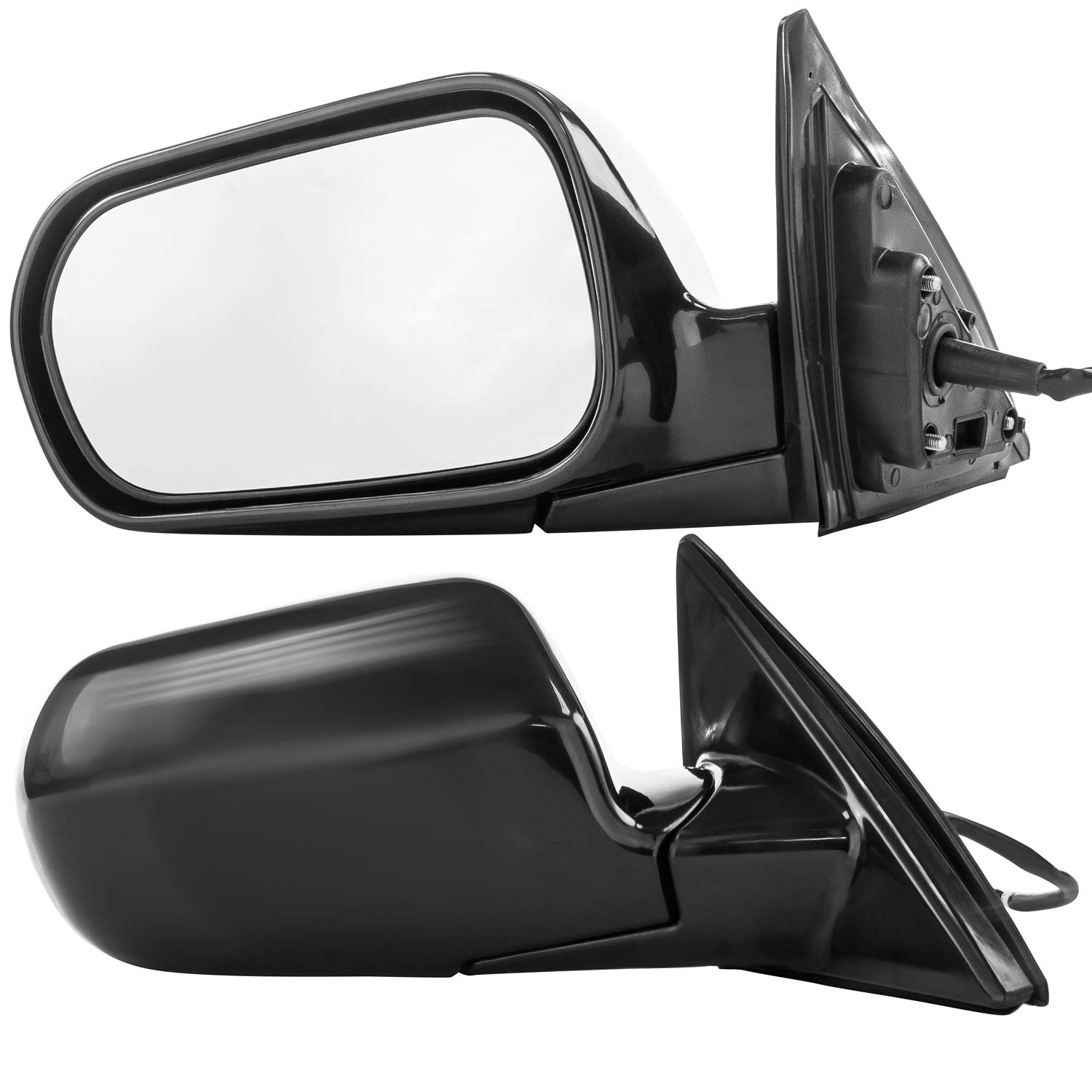 Dependable Direct Driver and Passenger Side Unpainted Non-Heated Folding Door Mirrors for Honda Accord Sedan (1998 1999 2000 2001 2002) HO1321125