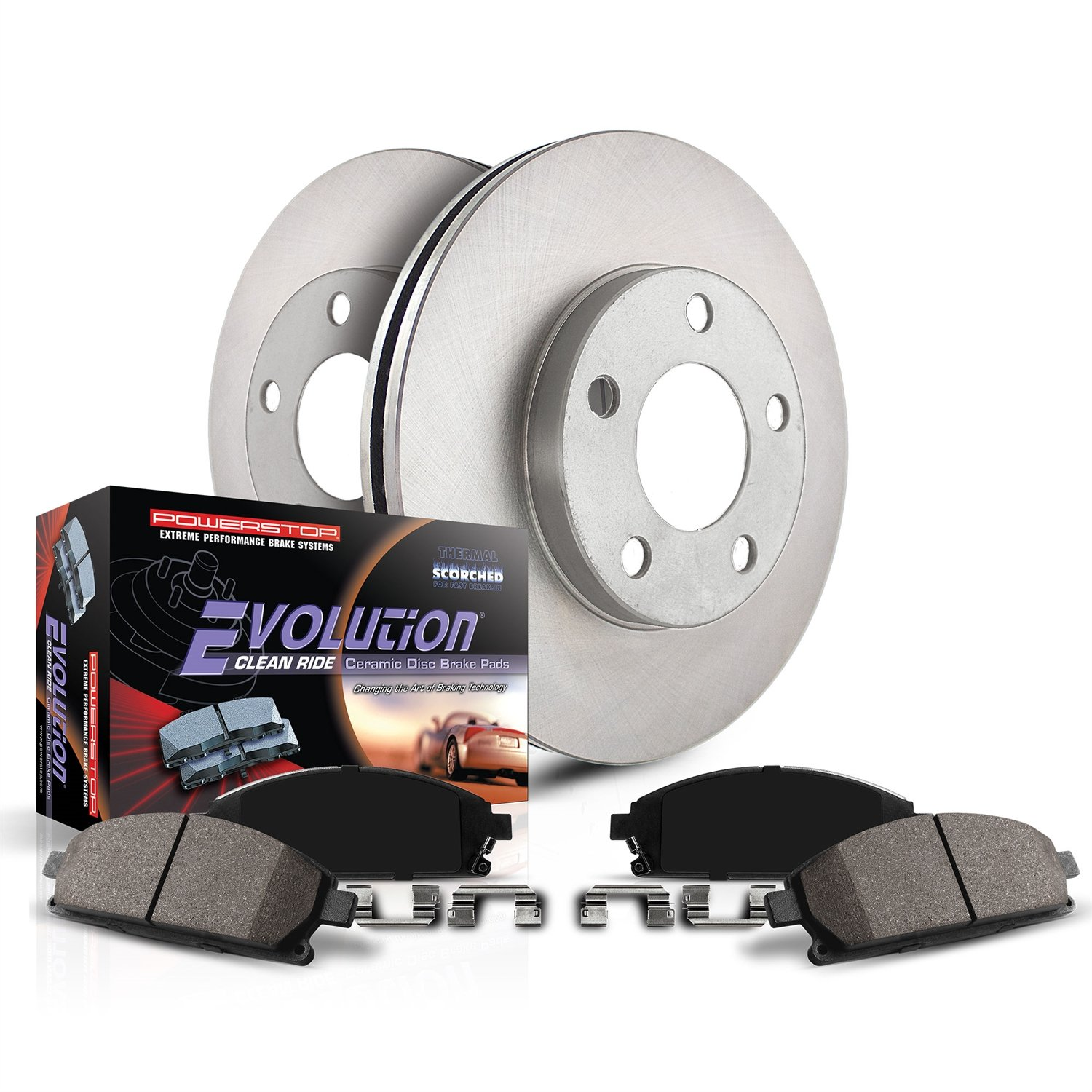 Power Stop KOE4557 Front Stock Replacement Brake Kit