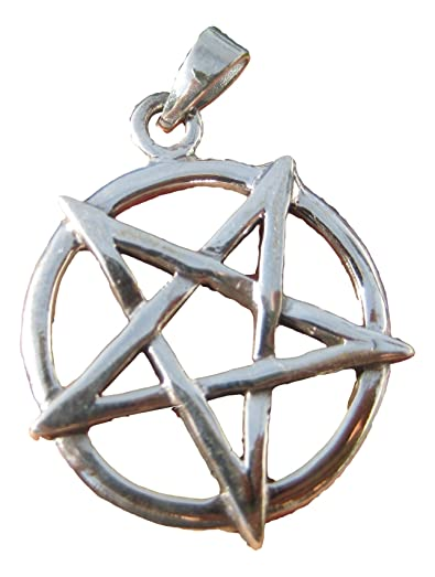 Amazon large 925 sterling silver wicca inverted pentagram large 925 sterling silver wicca inverted pentagram pendant necklace a15 aloadofball
