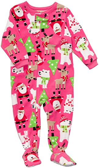 14c2b3a51 Amazon.com  Carter s Toddler Fleece Footed Sleeper - Santa Print-4T ...