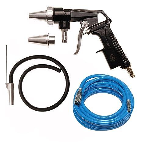BGS Pistola de chorro de arena arena Foco Inyección Pistola Manguera de aspiración de aire de ...