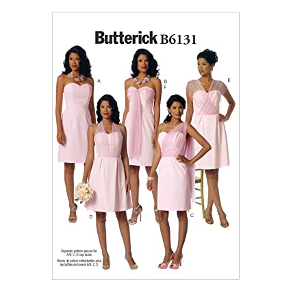 Butterick B6131 costura para confeccionar blusas, trajes, vestidos, moda, BTK 6131 E5