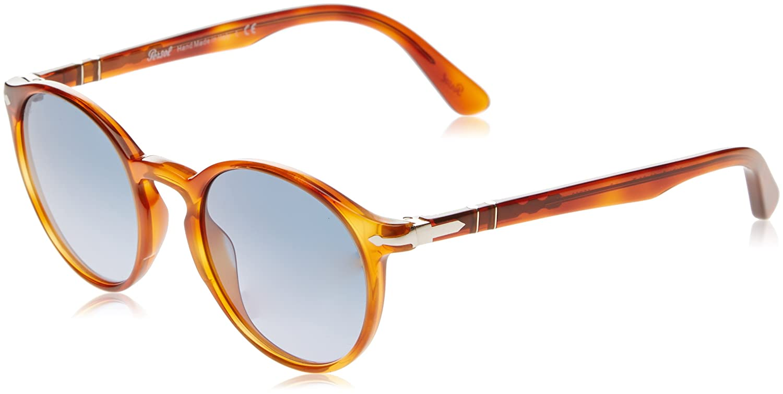 4a411e0940fcc Amazon.com  Persol PO3171S 96 Q8 Terra Di Siena PO3171S Round Sunglasses  Lens Category 3 Si  Persol  Clothing
