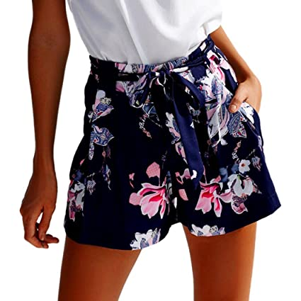 d646acc17 ❤️ Amlaiworld Pantalones corto Mujer Verano Sexy Pantalones cortos de  flores casuales de cintura alta para niña Leggins Deportivos Fitness Mallas  ...