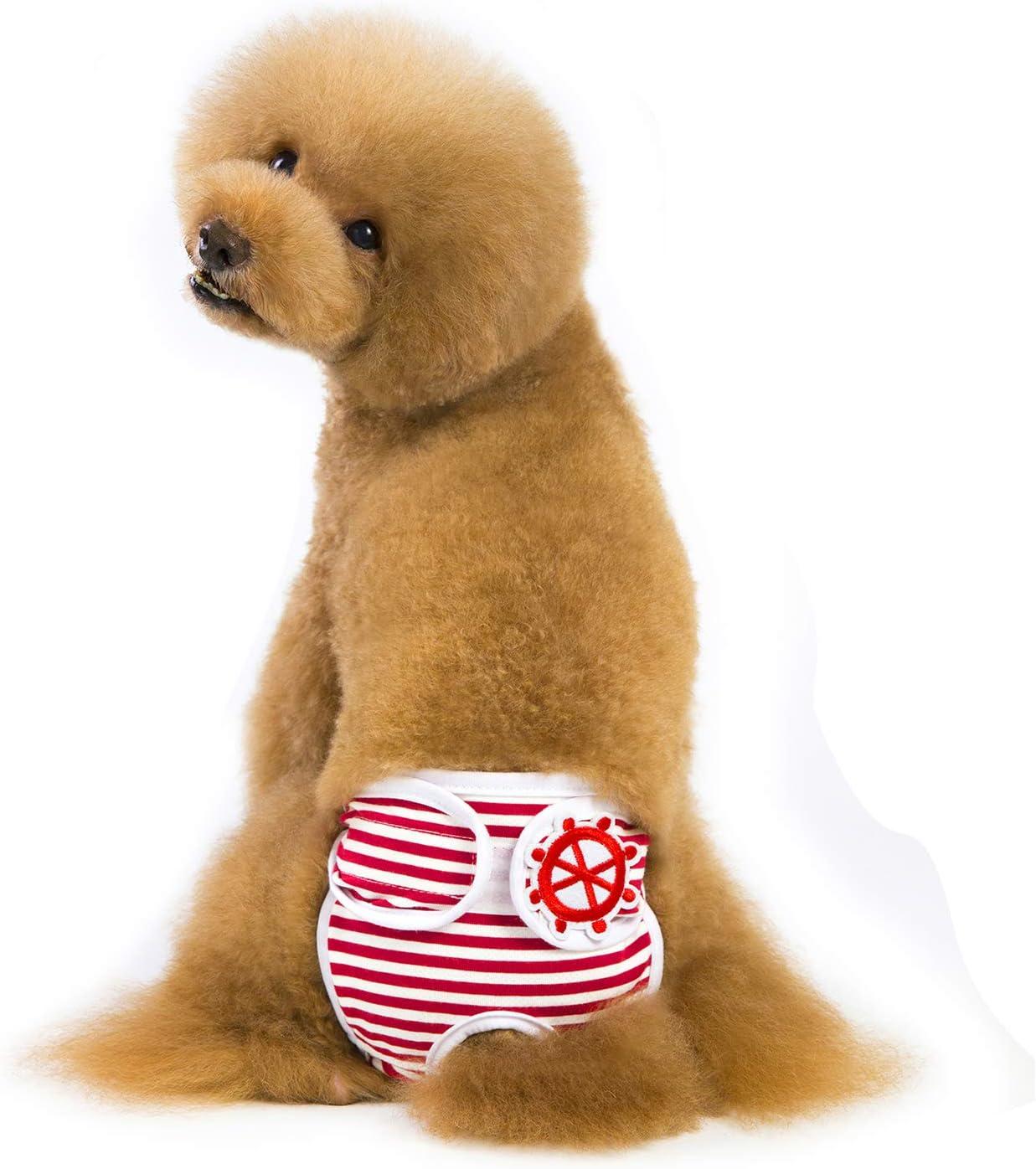 XS-L para Perros para incontinencia de Mascotas y Viajes Largos Cachorros Elegantes y duraderos Pa/ñales Reutilizables para Perro Lavables