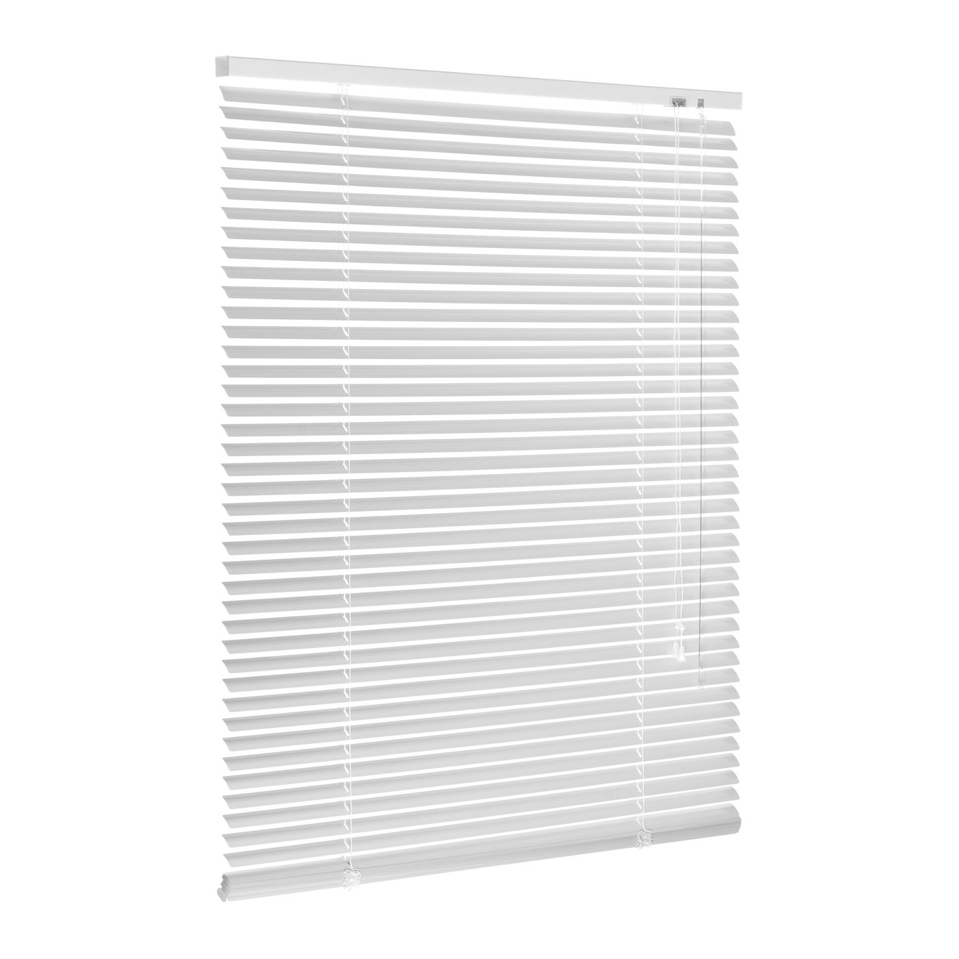 Aluminum Venetian Blind White 25mm mounting accessories included numerous sizes (40x130 cm (Width X Height)) Ventanara
