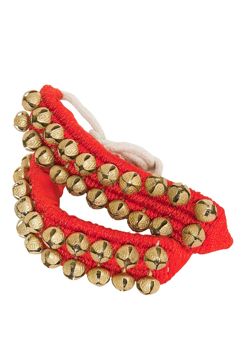 DOBANI Ankle Bells, 2-rows on Red Pad