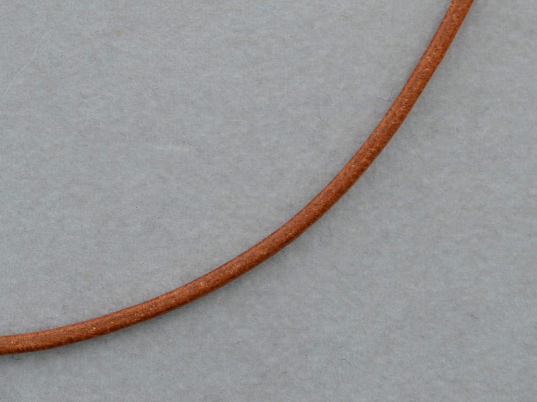 Mittelbraunes Lederband 2mm mit 925/- Silber Verschluss