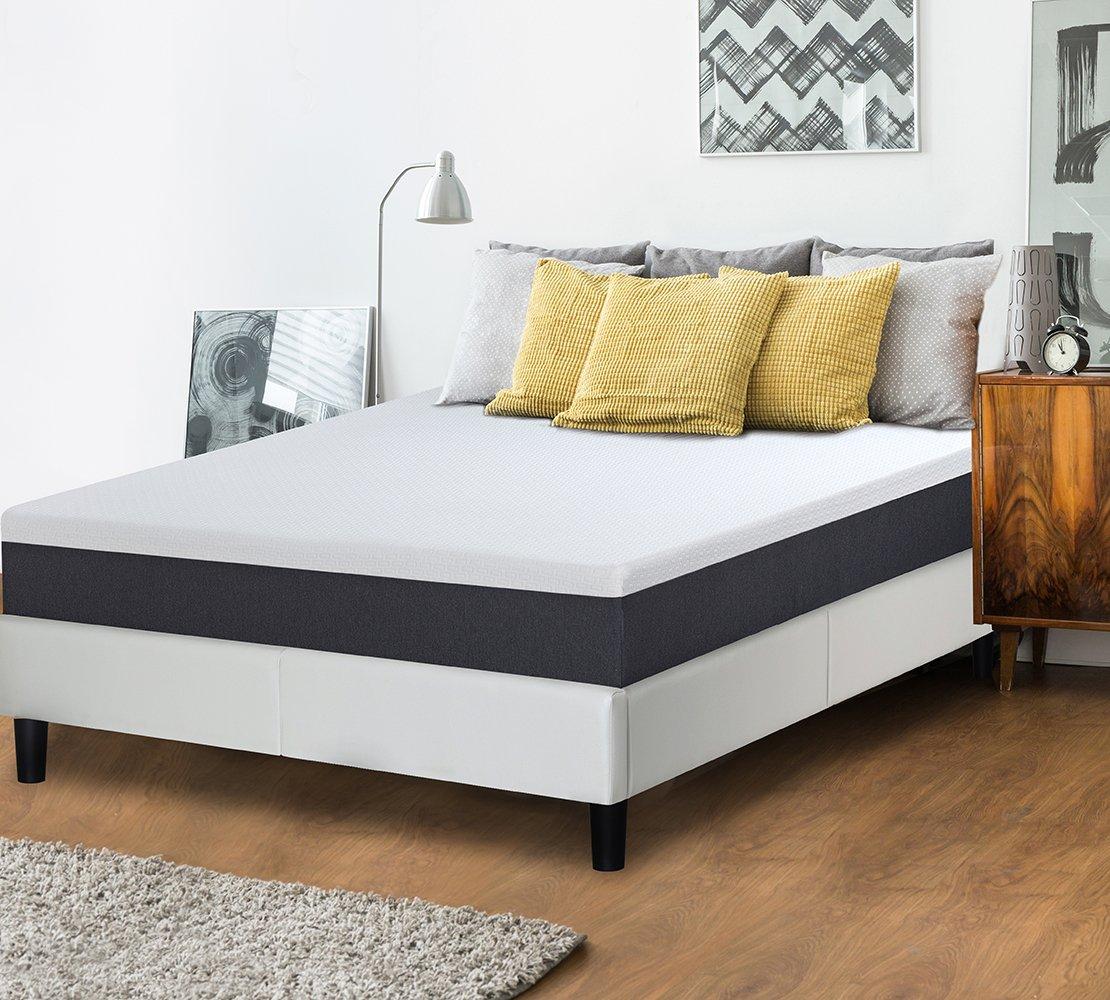 Olee Sleep 10 Inch EOS Multi Layer Gel Infused Memory Foam Mattress - 10FM05Q