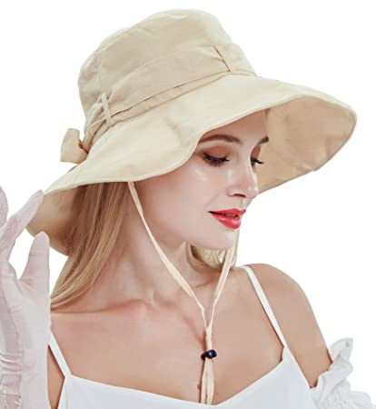 28c0703d Image Unavailable. Image not available for. Color: Sumolux Womens Sun Hat  Summer UPF 50+ UV Fishing Protection Beach Hat Foldable Wide Brim